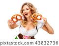female, pretzel, lady 43832736