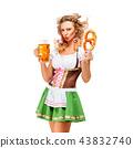female, pretzel, lady 43832740