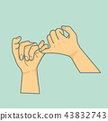 hand Pinky promise  vector 43832743