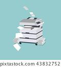 Office multifunction machine vector 43832752