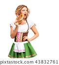 female, pretzel, lady 43832761