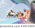 Happy nice family having a vacation together 43833069