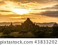 bagan, myanmar, sunset 43833202