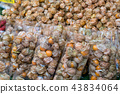 Peruvian groundcherry fruit  in plastic packaging 43834064