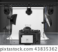 Vector photo studio with equipment for photography 43835362