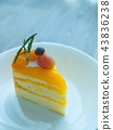 ส้ม,เค้ก,ขาว 43836238