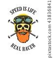 biker, emblem, motorcycle 43836841