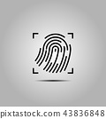 Vector Black Fingerprint Identification.  43836848