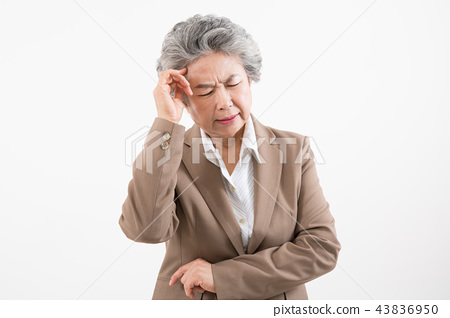 시니어 여성, 노인, 포트레이트 동작 43836950