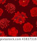 Red Rose, Chrysanthemum, Carnation Peony Amaryllis 43837316