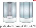 Modern corner shower cabin 43837479