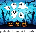 Halloween image with ghosts theme 8 43837663
