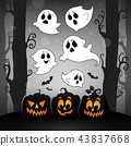 Halloween image with ghosts theme 4 43837668
