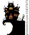 Halloween house silhouette theme 1 43837673
