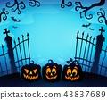 Cemetery gate silhouette topic 1 43837689