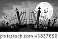 Cemetery gate silhouette theme 9 43837690