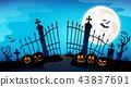 Cemetery gate silhouette theme 8 43837691