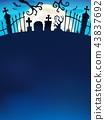 Cemetery gate silhouette theme 7 43837692