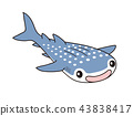 whale shark, character, grinning 43838417