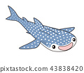 whale shark, character, grinning 43838420
