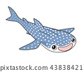 whale shark, character, grinning 43838421