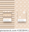Traditional Merry Christmas Seamless Patterns 43838441