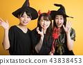 할로윈 코스프레 파티 여자 회 마녀 43838453