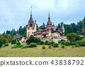 Peles castle in Sinaia, Romania 43838792