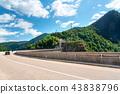 Vidraru dam and highway in the Carpathians 43838796