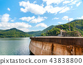 Vidraru dam on Arges river in Transylvania 43838800