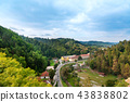 View from Dracula's castle in Bran 43838802