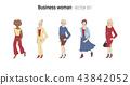 Business woman vector illustration. Cartoon style set 43842052