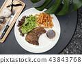 猪肉 牛排 沙拉 43843768