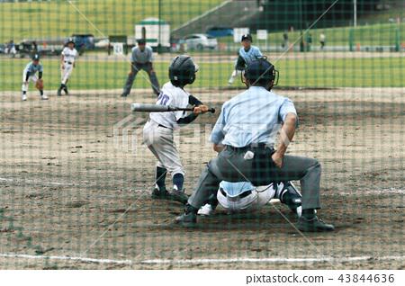 Boy baseball game 43844636