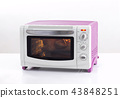 Electric oven with chicken inside 43848251