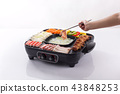 Electric grill stove with food 43848253
