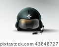 pilot jet helmet aviator vector illustration 43848727