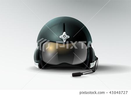 pilot jet helmet aviator vector illustration 43848727