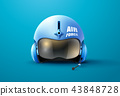 pilot jet helmet vector illustration 43848728