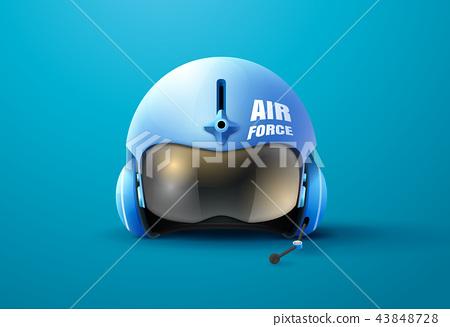 pilot jet helmet vector illustration 43848728