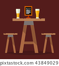 Cafe tables in restaurant setting vector dining furniture table and chair for romantic lunch dinner 43849029