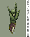 Halloween zombie hand sign love Artwork background 43849865