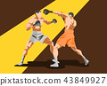 Illustration Of Two Male Boxers Character. 43849927