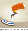 business man Parachuting drop to target. 43849929