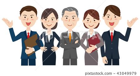 男性和女性的業務團隊 43849979