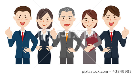 男性和女性的業務團隊 43849985