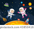 Astronaut on the planet with a alien spaceship. 43850416