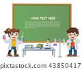 children doing science lab experiment. 43850417
