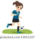 soccer girl player 43852207