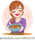 Woman Serving Food 43852210